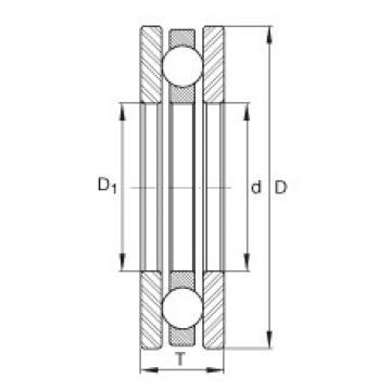 FAG Rolamento axial de esferas - 4428