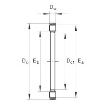 FAG Coroa de rolos cilíndricos axiais - K81112-TV