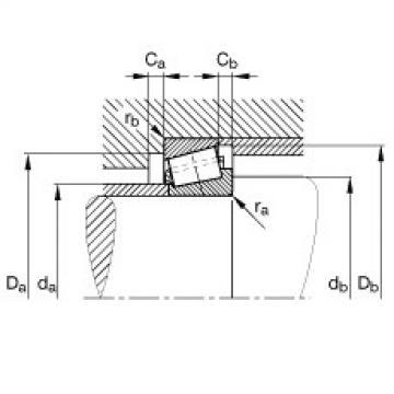 FAG Rolamentos de rolos cônicos - K33225-33462