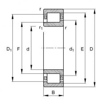 FAG Rolamento de rolos cilíndricos - NJ411-XL-M1