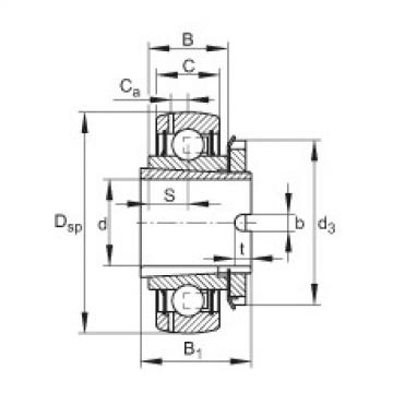 FAG Mancal tensor - GSH45-XL-2RSR-B