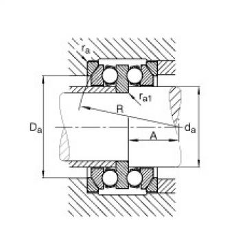 FAG Rolamento axial de esferas - 54314 + U314