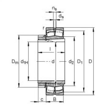 FAG Rolamentos autocompensadores de rolos - 22312-E1-XL-K-T41A + H2312