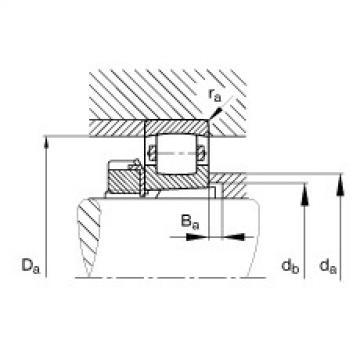 FAG Rolamento de rolos abaulados - 20312-K-TVP-C3 + H312