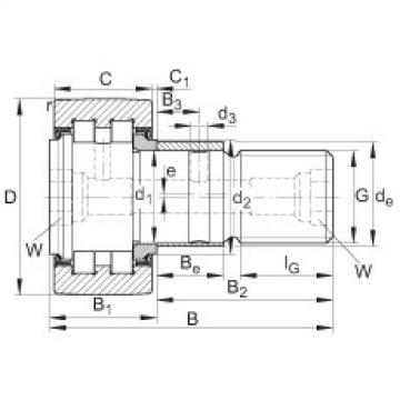 FAG Rolos de leva - PWKRE80-2RS