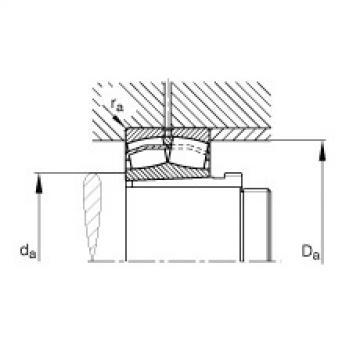 FAG Rolamento autocompensador de rolos - 21312-E1-XL-K + AHX312