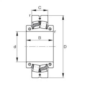 FAG Rolamento autocompensador de rolos - 222S.204