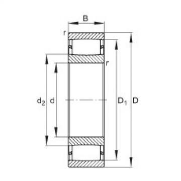 FAG Rolamentos de rolos toroidais - C3192-XL-M