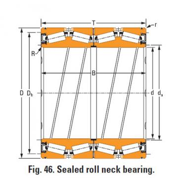 Rolamentos de rolo de rolo selado 1440 O-ring