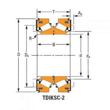 Rolamentos de rolos cônicos H228643dw H228610
