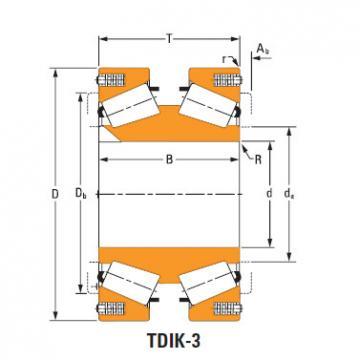 Rolamentos de rolos cônicos lm974534dw lm974511