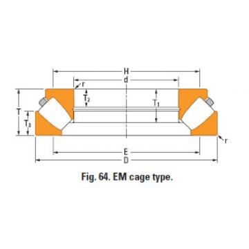 Rolamento de rolos esféricos de impulso 293/750em