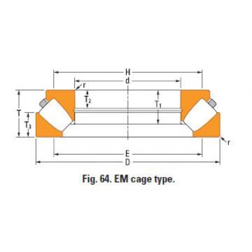 Rolamento de rolos esféricos de impulso 29436eJ