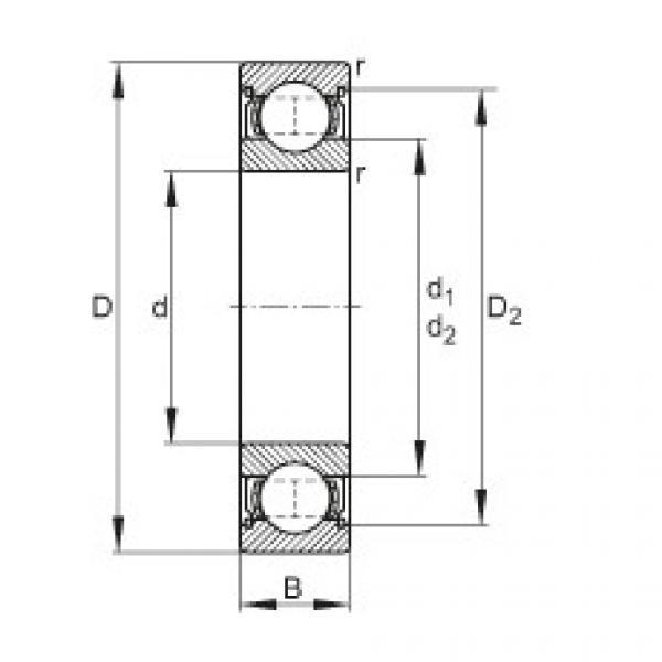 FAG Rolamento de esferas - 628-2Z #1 image