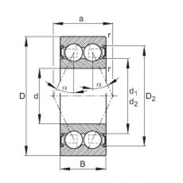 FAG Rolamento angular - 30/5-B-2RSR-TVH #1 image