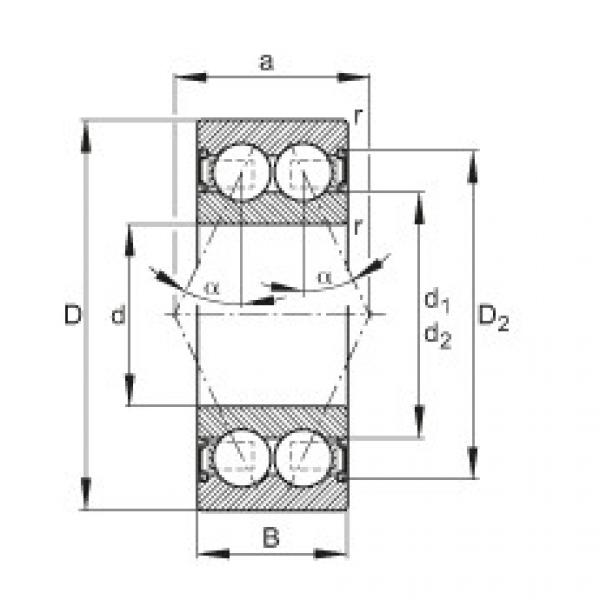 FAG Rolamento angular - 3200-B-2RS-TVH #1 image