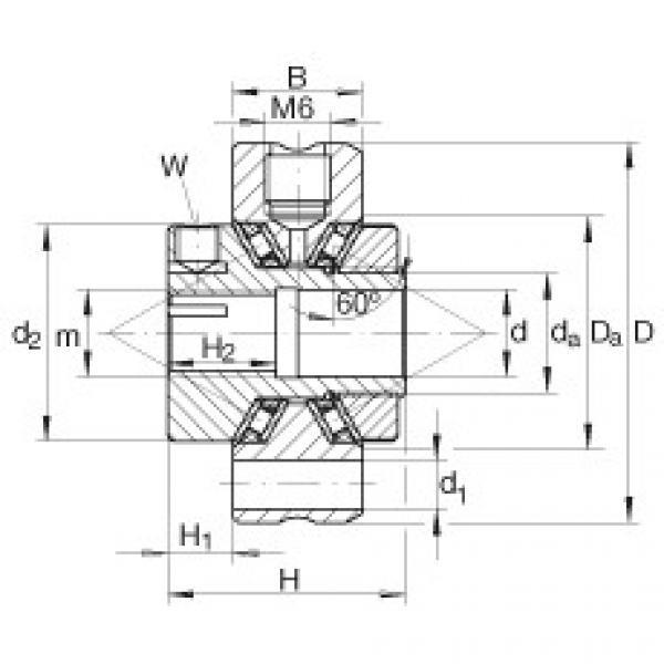 FAG Rolamentos axiais de agulhas de contato angular - ZAXFM0835 #1 image