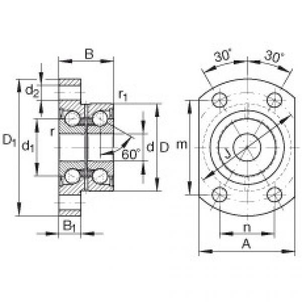 FAG Unidades de rolamento de esfera de contato angular - ZKLFA0640-2Z #1 image