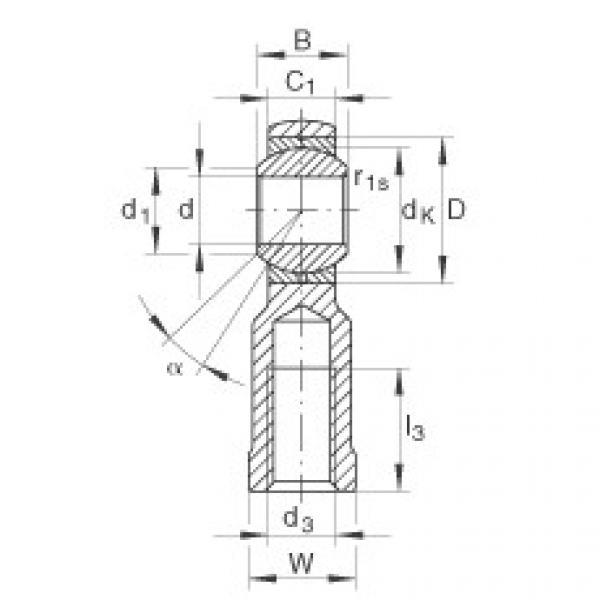 FAG Cabeças articuladas - GIKL8-PB #1 image