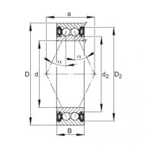 FAG Rolamento angular - 3800-B-2RZ-TVH #1 image