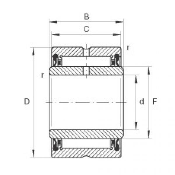 FAG Rolamento de agulhas - NA4900-2RSR-XL #1 image