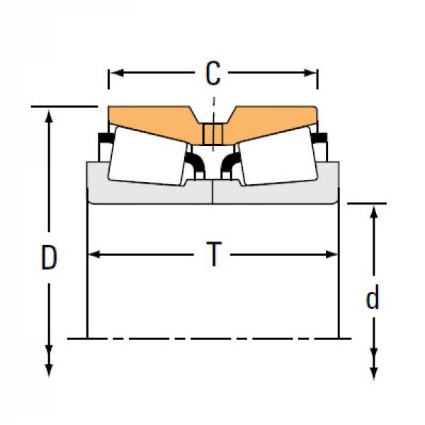 Bearing NA66212 66462D #1 image