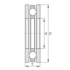 FAG Rolamento axial de esferas - EW2-1/4
