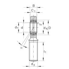FAG Cabeças articuladas - GAL50-DO-2RS