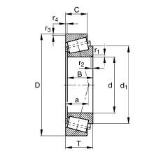 FAG Rolamentos de rolos cônicos - 320/22-X