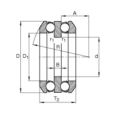 FAG Rolamento axial de esferas - 54232-MP