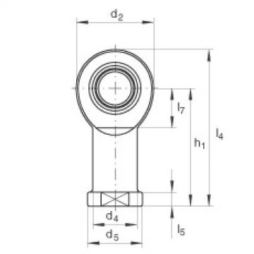 FAG Cabeças articuladas - GIR60-UK-2RS