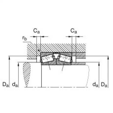 FAG Rolamento de rolos cônicos - 31322-X-DF-A170-220
